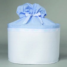 Christening box Felt and Cotton / Κουτί Βάπτισης απο τσόχα και βαμβεκερό γαλάζιο ύφασμα